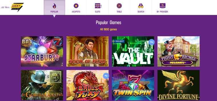 Trots sin - åtminstone relativt sett - något sena lansering år 2018 tillhnör Lucky Casino, som drivs av det Malta-baserade Glitnor Services