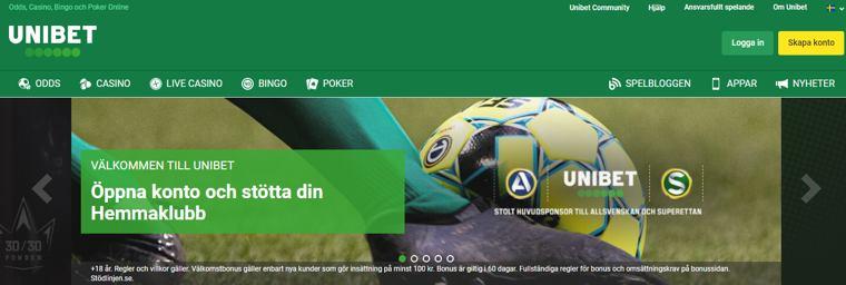 Unibet är en av Sveriges äldsta spelbolag, och lanserades för första gången redan år 1997